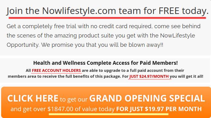 Now Lifestyle price tag