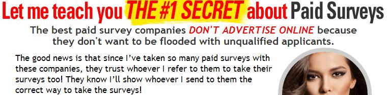Take Surveys For Cash Secret