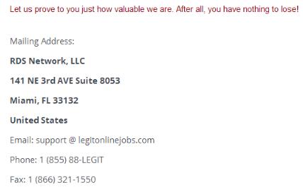 LegitOnlineJobs Address