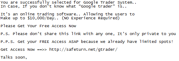 mail from gtrader