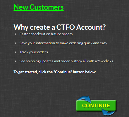 CTFO New customer