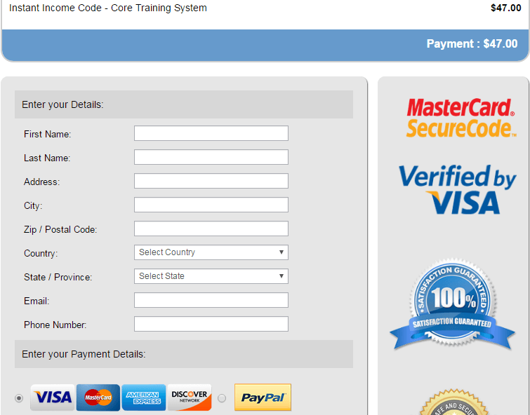 IIC payment process