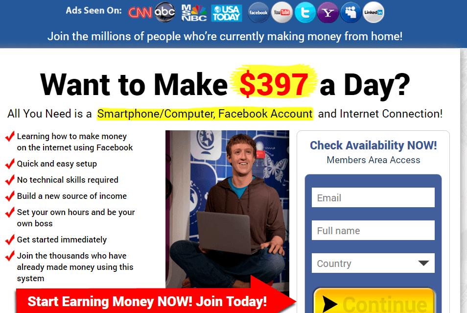 Facebook Bonanza uses Facebook