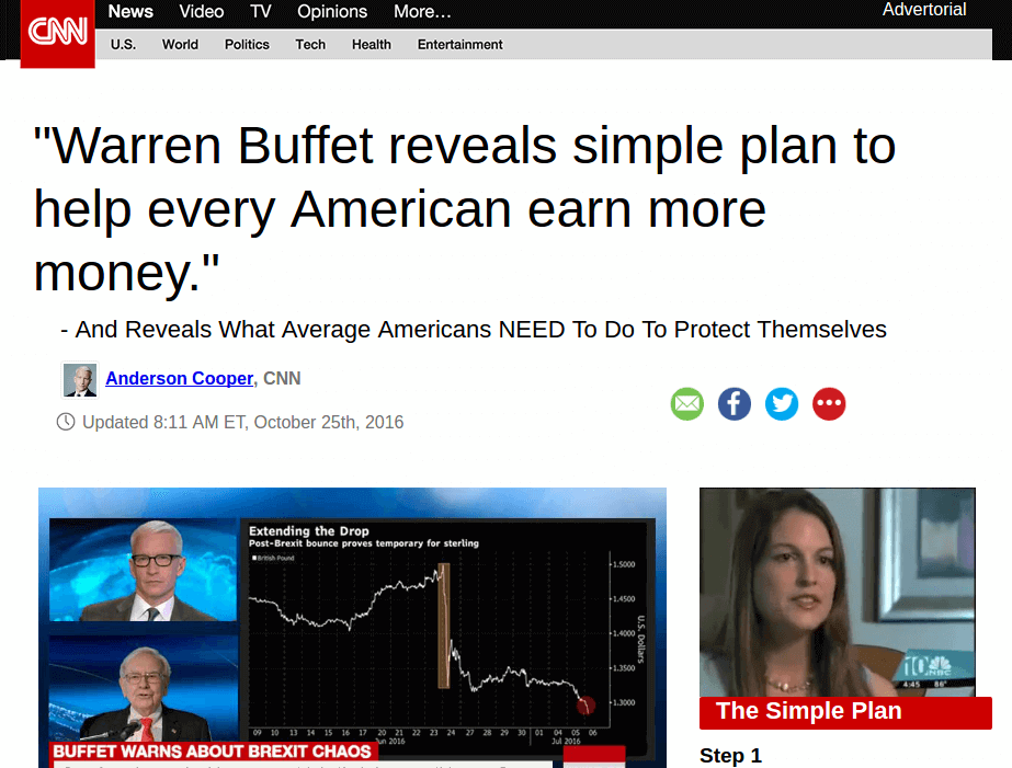 Daily Web Biz Fake CNN Advetorial