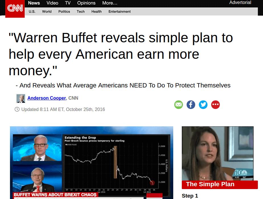 Daily Web Biz Fake CNN Advetorial
