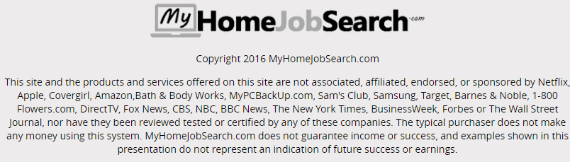 MyHomeJobSearch terms