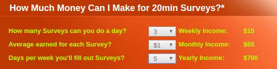 PaidSurveysAtHome Calculator