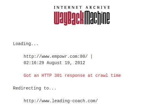 Empowr WaybackMachine