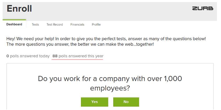 eenrollapp poll questions