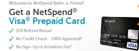 netSpend Refer a friend