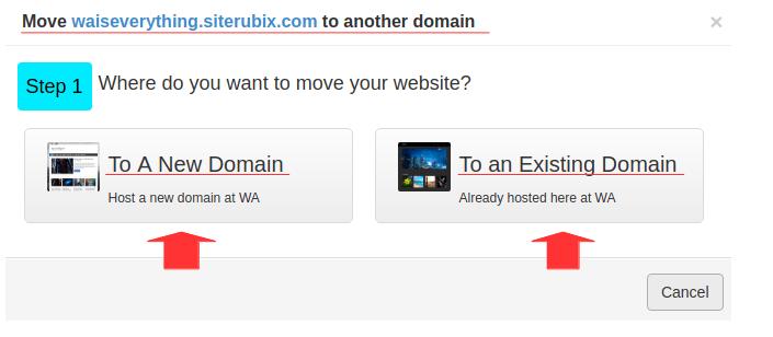 WA transfer domain