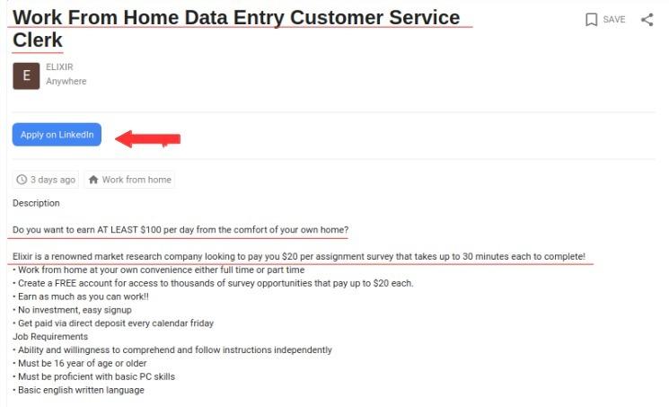 elixir google job listing