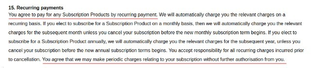 msw recurring payments