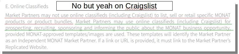 MG craigslist terms