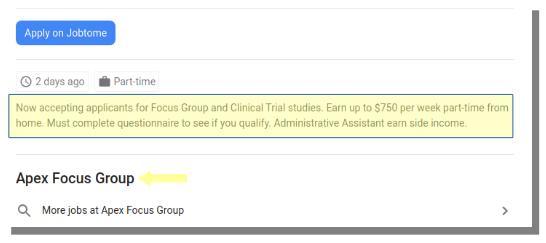 apex focus group job ad