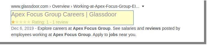 apex glassdoor