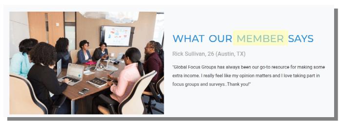 global focus groups member