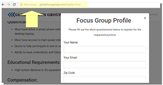 global focus groups not secure