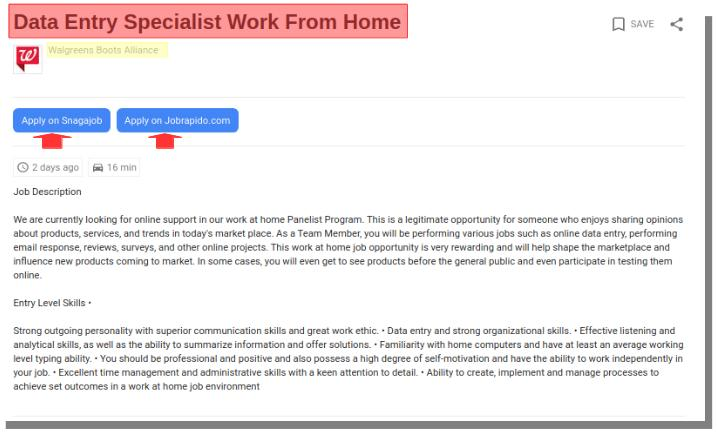 walgreens fake job listing