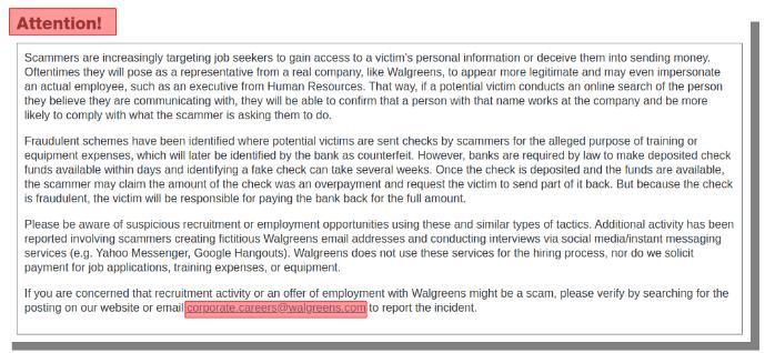 walgreens scam alert